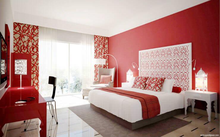 colori della camera da letto rossa