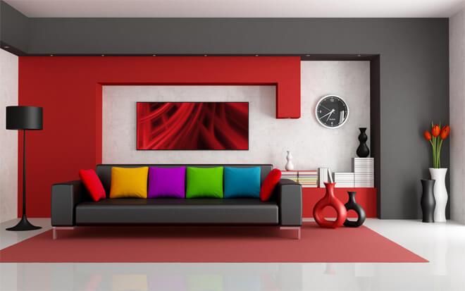 pareti soggiorno colorate