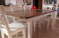 tavolo e sedie total white country