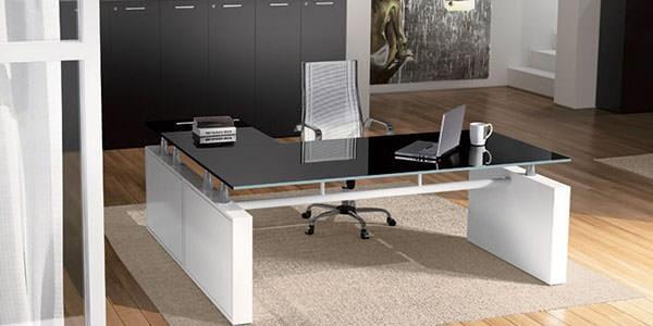 scrivania ufficio vetro